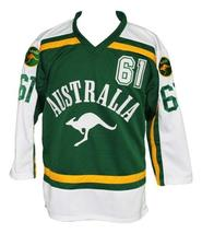Any Name Number Team Australia Retro Hockey Jersey Green Any Size image 4