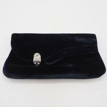 Vintage Garay Damen samt Handtasche Clutch Wechsel Geldbörse Marineblau Nwt - $59.27