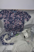 3 Boys Shirts Medium Gap Kids Blue Hawaiian Button Down, David Bitton Pu... - $29.69