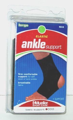 Mueller 963LG Elastic Ankle Support Size Large Color Black