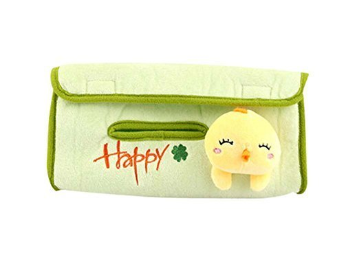 PANDA SUPERSTORE Small Yellow Duck Auto Supplies Hanging Tissue Box Tissue Box C