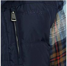 Orvis Down Puffer Vest Full Zipper Jacket Navy Blue Mens Size Medium NWT image 4