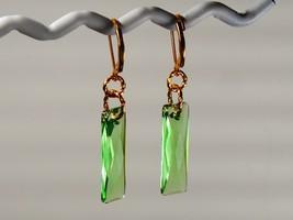 Swarovski Crystal Peridot Earrings w/ Swarovski Elements / 14k Gold Fill... - $24.95+