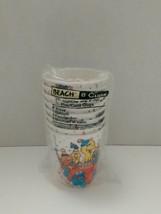 Vintage Beach Products Happy Birthday Sesame Street beverage cups - $9.49
