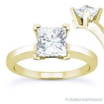 Forever Brilliant Square Moissanite Solitaire Engagement Ring in 14k Yel... - €436,93 EUR+