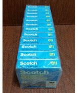 """12 Pk New SCOTCH 3M 811 Removable Tape 1/2in x1296 in (36yds) 1"""" Core Lot 192432 - $66.27"""
