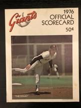 1976 San Francisco Giants Los Angeles Dodgers Program Scorecard John Mon... - $7.99