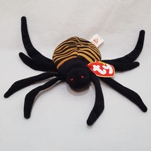 "Spinner Big Black Spider Ty Beanie Baby Plush Stuffed Animal 7"" 1996 - $9.99"