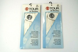 Set Of 2 NEW US TOUR All Weather Cool Max Golf Gloves- Men's Medium Cade... - $17.41