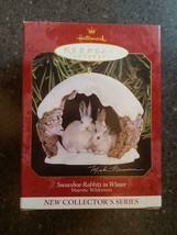 1997 Hallmark Keepsake Christmas Ornament SNOWSHOE RABBITS in WINTER - NEW - $9.00