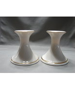 PAIR Vintage LENOX® CARLTON Porcelain CANDLE HOLDER Candlesticks W/ LABELS - $26.99