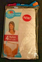New! Fruit of the Loom Fit For Me Panties 4 pc, Plus Size 11 Nylon Hi-cu... - $6.92