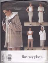Vogue 5 Easy Pieces 2220 Wardrobe Pants, Dress, Top, Skirt, Jacket Sz. 1... - $13.85