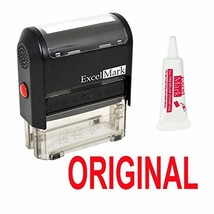 Original Self Inking Rubber Stamp - Red Ink Stamp Plus 5cc Refill Ink - $13.70