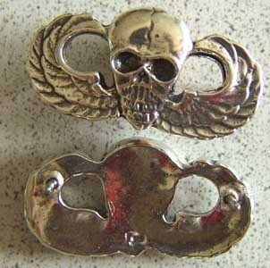 Primary image for Vietnam MACV SOG Skull Paratrooper Wings Sterling