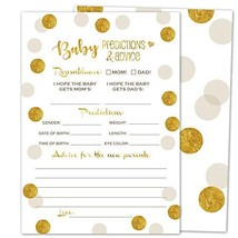 Gooji Baby Shower Prediction and Advice Card Games (50-Pack) Gold Themed... - £12.25 GBP
