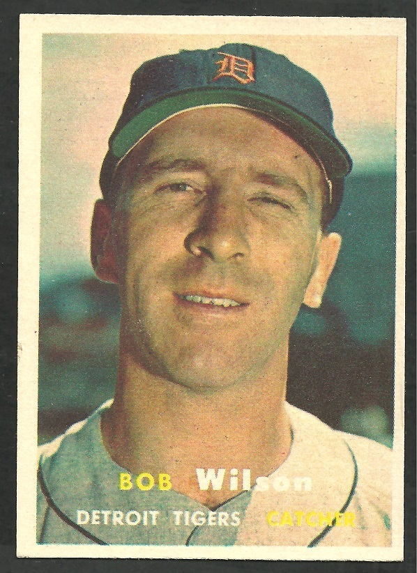 Primary image for Detroit Tigers Bob Wilson 1957 Topps Baseball Card 19 nr mt