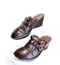 BORN, Handcrafted Brown Leather Mule Size 8 Medium - $18.99