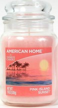 1 American Home By Yankee Candle 19 Oz Pink Island Sunset Glass Jar Candle - $26.99