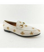 New GUCCI Size 6.5 JORDAAN Stars & Bees Ivory Horse Bit Loafers Shoes 36... - $489.00