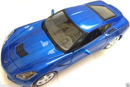 "Maisto 2014 1:24 Scale Chevy Corvette Stingray 7.5"" diecast model car #Blue - $48.99"