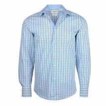 Berlioni Italy Men's & Boys Premium Yarn Dyed Luxe Cotton Dress Shirt Modern Fit image 14