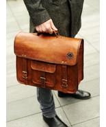 Men Classic Genuine Leather Handbag Business Briefcase Messenger Shoulde... - $55.84+