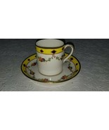 Antique Crown Staffordshire Porcelain Demitasse Cup and Saucer - $7.42