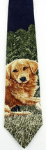 Endangered Species Retriever Mens Silk Neck Tie Dog Baseball Necktie  Pe... - $19.75