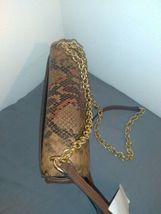New Calvin Klein Snake Lock Shoulder Bag python-print crossbody H9DES9ZF $248.00 image 11