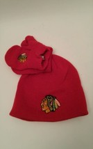 Chicago Blackhawks Toddler Cap & Mittens New Tags Fan Favorite NHL Licen... - $16.03