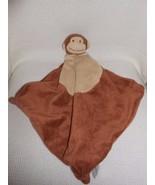 CUTE Angel Dear Brown & White Monkey Head Security Blanket Blankie Plush... - $8.99