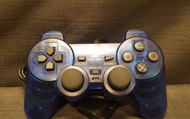 Official Sony Dualshock 2 Clear Cosmic Blue (SCPH10010) Gamepad Controller - $24.50