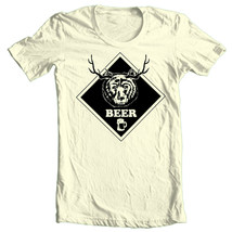 BEER T-shirt Bear Deer funny hunting novelty 100% cotton graphic tee image 1