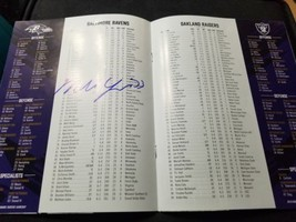 Baltimore Ravens GAME DAY Program Multi Autograph Marshal Yanda image 2