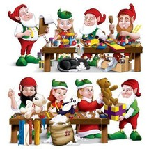 Christmas Santa's Wo rkshop Props Party Accessory 1count Clear Plastic 2... - $9.18