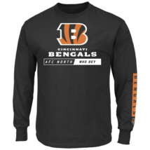 Majestic Men's NFL Primary Receiver Long-Sleeved Tee Bengals XL #NIO26-386 - $24.99