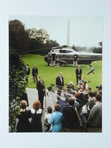 President Ronald Reagan Vintage 8x10 Photo White House Marine One Helico... - $29.65