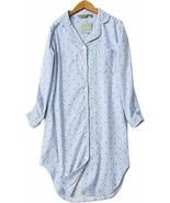 Luckytung Women's Flannel Nightshirt Button Down Boyfriend Nightgown Mid... - $18.23