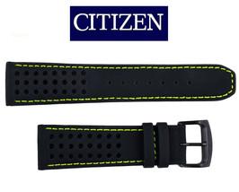 Citizen CA0467-20H ECO-DRIVE BLACK watch band 23mm STRAP Green stitches   - $70.95