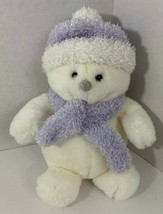 Commonwealth Meltin the Snowman Plush sparkly lavender purple white Chri... - $11.87