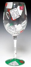 Lolita Santa's Mail Wine Glass Retired Rare New in Box Christmas Holiday... - $37.39