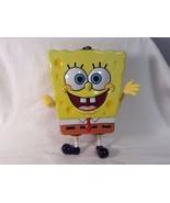 "Spongebob Tin Metal Box Moveable Arms Legs 8"" X 5"" Cute VGC - $10.44"