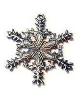 Snowflake Fine Pewter Ornament Approx. 1 3/4 inches tall   (T231)