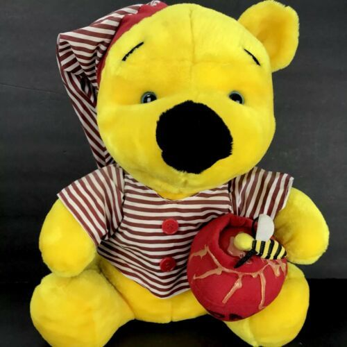 Primary image for Disney Sleepytime Pajama Winnie The Pooh Honey Pot Plush 18 inches Vtg Stuffed