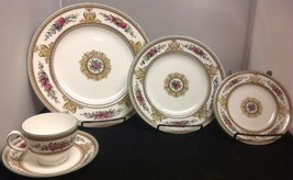 Wedgwood Columbia W595 - 5 pcs. PLACE SETTING(s) w/ Leigh Cup & Saucer MINT - $77.40