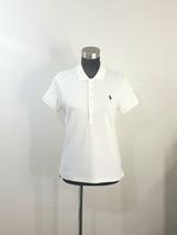 Ralph Lauren Sport White Polo Shirt Slim Fit Size Large Womens Short Sle... - $20.00