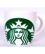 Starbucks Mermaid Logo Coffee Mug Cup Green and White 14 oz 2017 - $23.56
