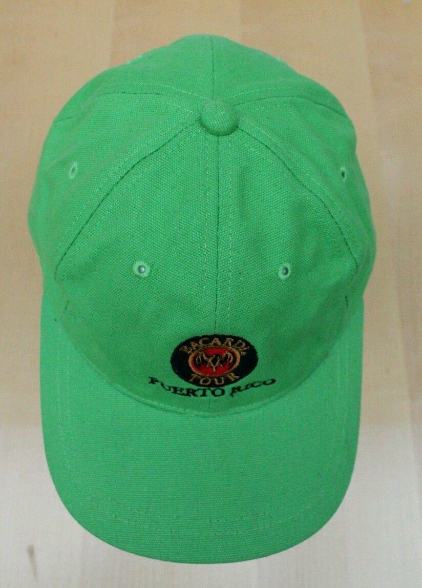 Bacardi Tour Puerto Rico Adjustable Hat Embroidered Cap Bat Logo 100% Cotton NEW