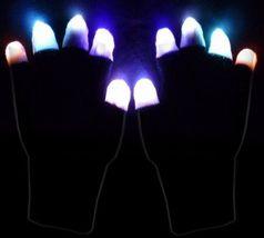 1 Pair X LED Black Gloves Multicolor (Finger Light) - $18.00